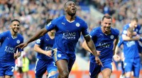 Plumb Images | Leicester City FC | Getty Images Wes Morgan of Leicester City celebrates after scoring to make it 1-0 during the Barclays Premier League match between Leicester City and Southampton at the King Power Stadium on April 03 , 2016 in Leicester, United Kingdom.