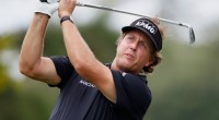 ATLANTA, GA - SEPTEMBER 22:  Phil Mickelson watches his tee shot on the second hole during the first round of THE TOUR Championship at East Lake Golf Club on September 22, 2011 in Atlanta, Georgia.  (Photo by Scott Halleran/Getty Images)