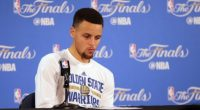(PHOTO: USA TODAY SPORTS/KELLEY L COX) Golden State Warriors guard Stephen Curry (30) reacts while speaking to media following the 93-89 loss against the Cleveland Cavaliers in game seven of the NBA Finals at Oracle Arena, Oakland, California, June 19, 2016.