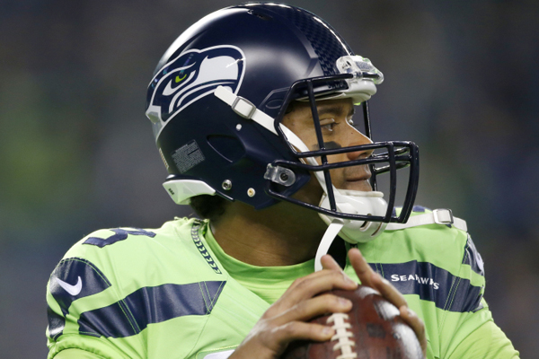 SEATTLE, WA - DECEMBER 15:  Quarterback Russell Wilson #3 of the Seattle Seahawks passes against the Los Angeles Rams at CenturyLink Field on December 15, 2016 in Seattle, Washington.  (Photo by Otto Greule Jr/Getty Images)